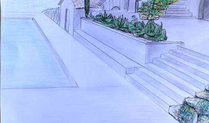 projet crayoné piscines-A